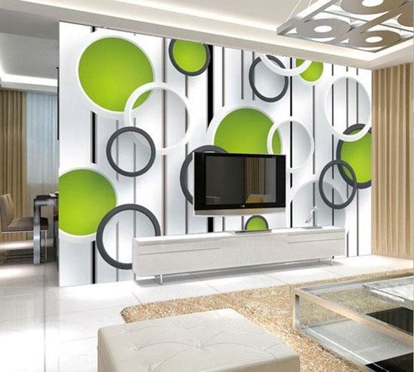 Giấy dán tường 3D phòng khách đẹp tại Hải Phòng