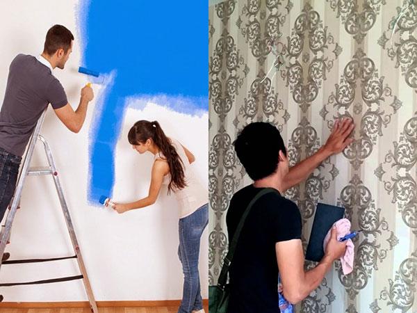 điểm hơn vủa giấy dán tường so với son