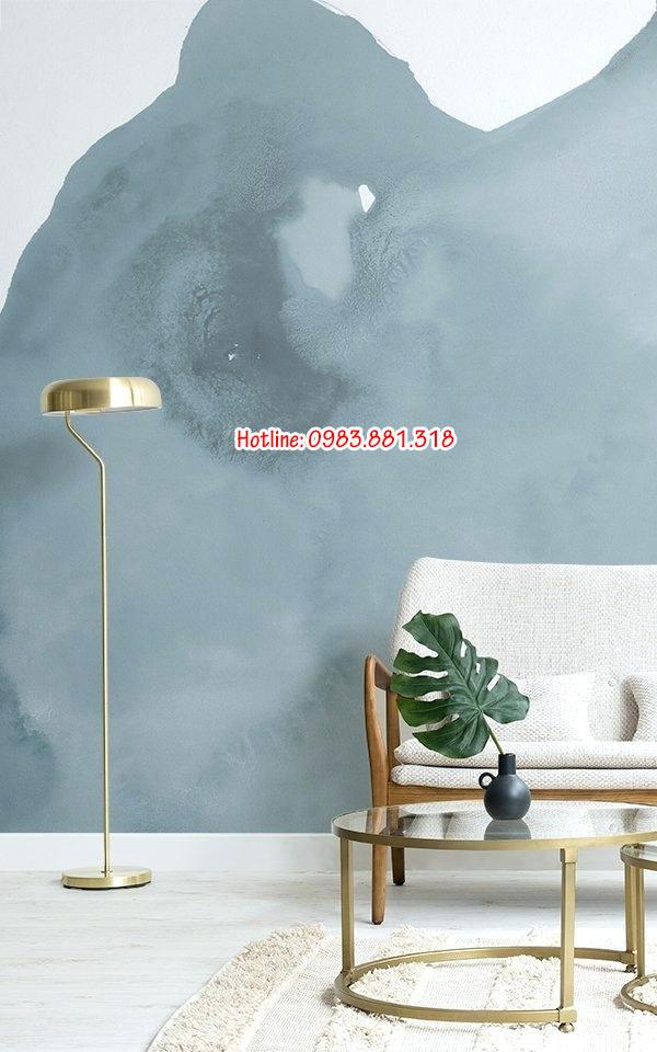 giấy dán tường màu nước xua tan căng thẳng