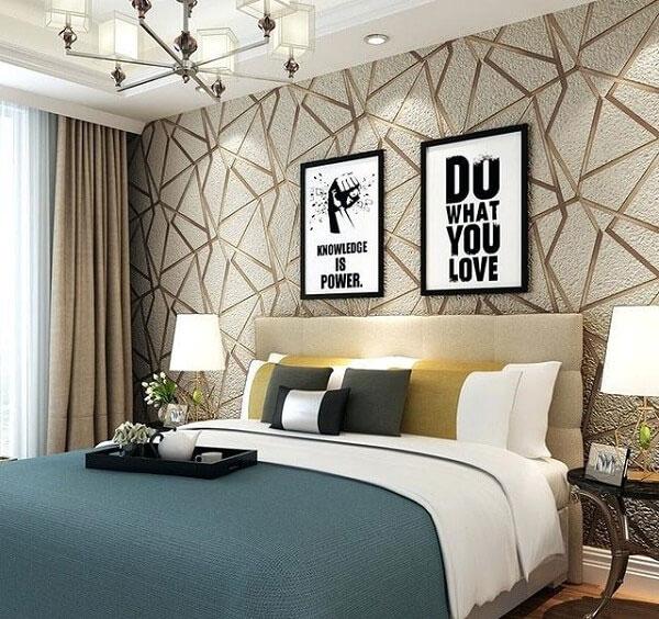 Thi công giấy dán tường cho phòng ngủ tại Hải Phòng