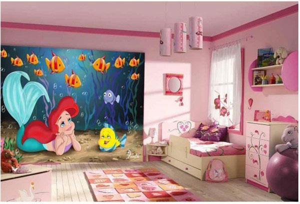 tranh 3d phòng ngủ cho trẻ em tại hải phòng
