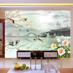 mẫu tranh 3d dán tường