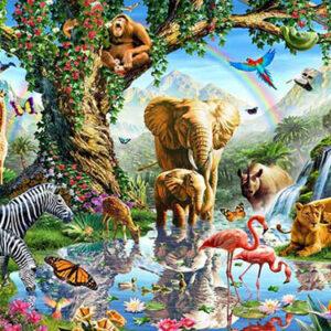 tranh dán tường 3d con vật