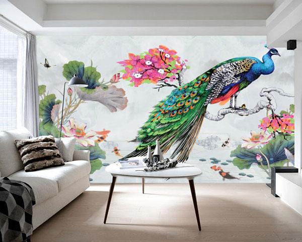 Lưu ý khi chọn tranh dán tường 3d cho phòng khách