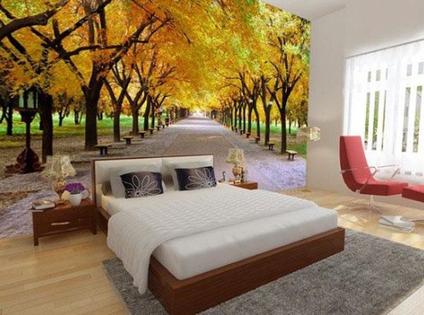 Lưu ý khi chọn tranh dán tường cho phòng ngủ