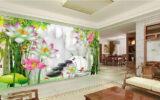 Những lưu ý khi chọn tranh dán tường phòng khách