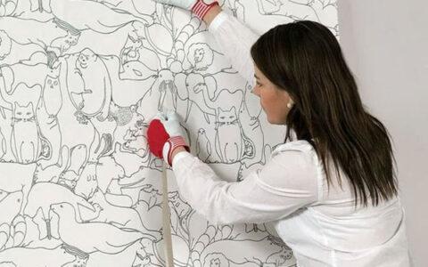 Lưu ý khi dán giấy dán tường