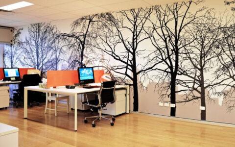 lợi ích khi sử dụng giấy dán tường cho văn phòng